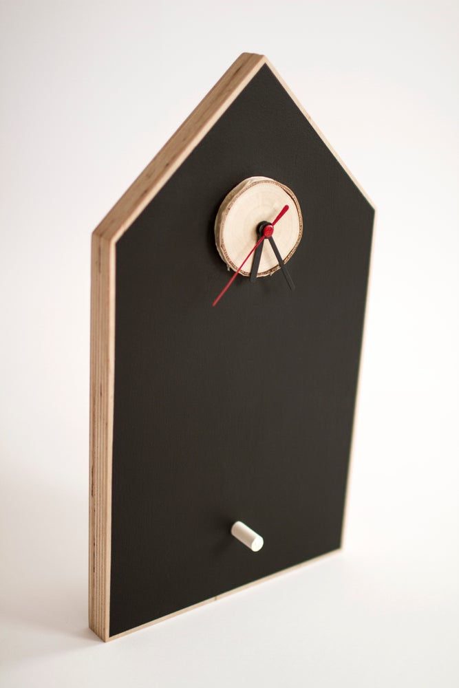 Image of Chalkboard Birdhouse Clock