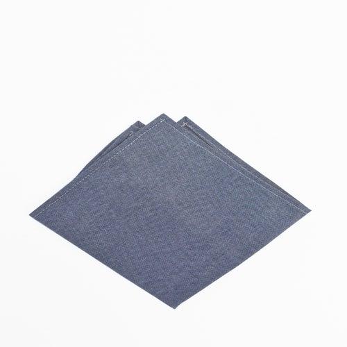 Image of dusk chambray pocket square