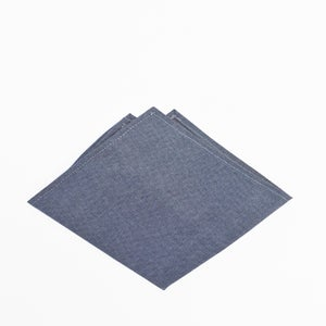 Image of dusk chambray pocket square