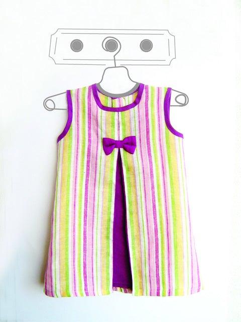Image of Vestido niña. Tallas: 1 a 9 años. Patrones de costura (PDF)