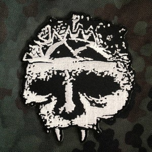 Image of INTEGRITY SKULL embroidered iron-on patch