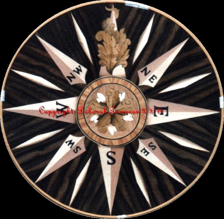 Image of Item No. 127.  Beautiful Nautical Compass Star.