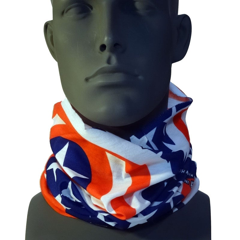 Image of TN01 PATRIOT TSHIELD BY ROB KINGWILL SNOWBOARDING AMERICAN FLAG  FACEMASK NECK GAITER