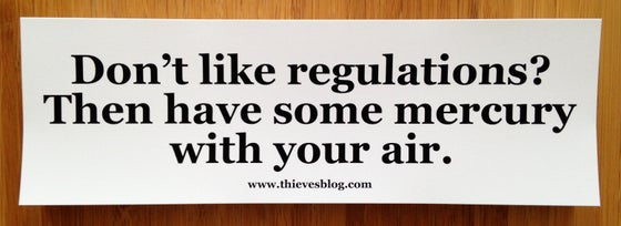 "Image of ""Don't like regulations"" bumper sticker v.2"