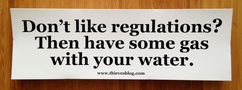"""Image of """"Don't like regulations"""" bumper sticker v.1"""