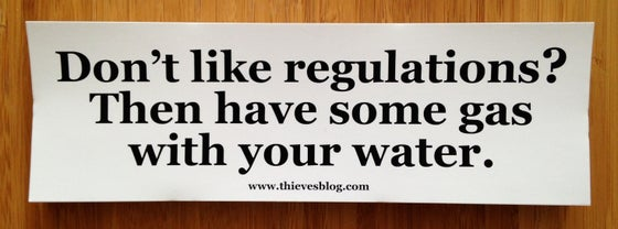 "Image of ""Don't like regulations"" bumper sticker v.1"