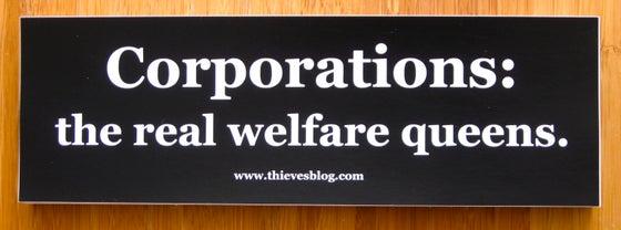 "Image of ""Real welfare queens"" bumper sticker"