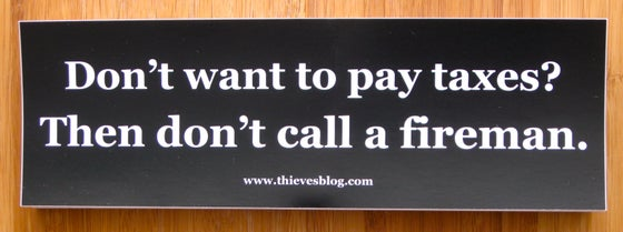 "Image of ""Don't want to pay taxes"" bumper sticker v.4"