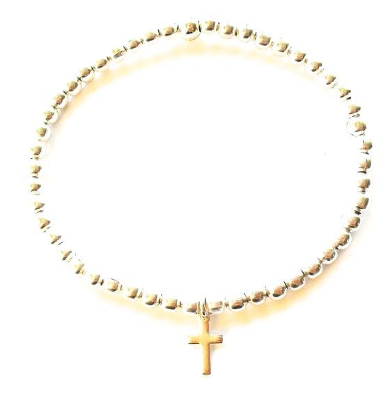 Image of Kool Jewels Cross Charm Bracelet