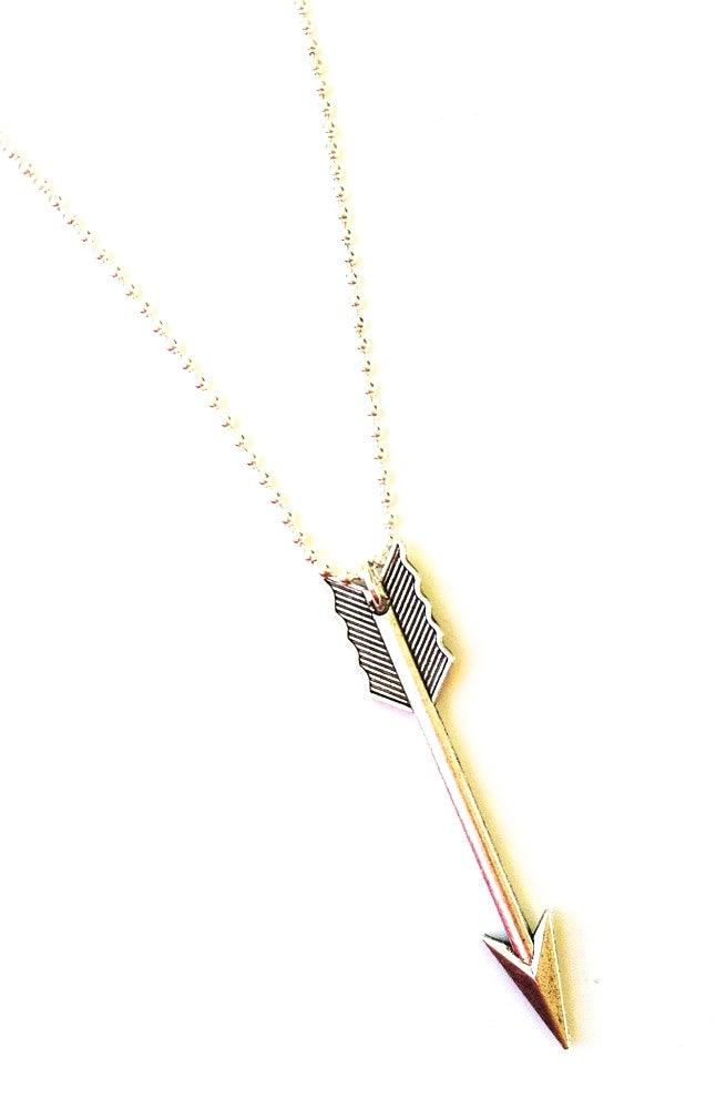 Image of Kool Jewels oversized arrow necklace