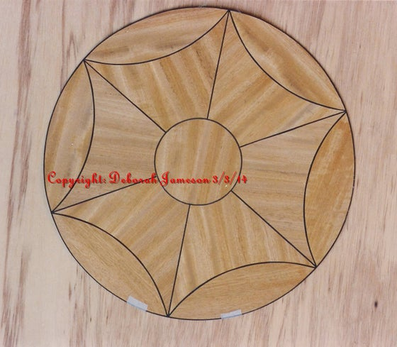 Image of Item No. 147.  Prepared Yew or Satinwood Design