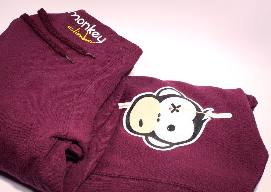 Image of Monkey Climber Streetwise hoodie I Burgundy