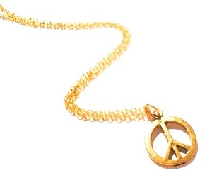 Image of Silvertone / Goldtone Peace CND Charm Necklace