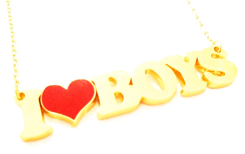 Image of Kool Jewels I Heart Boys Necklace