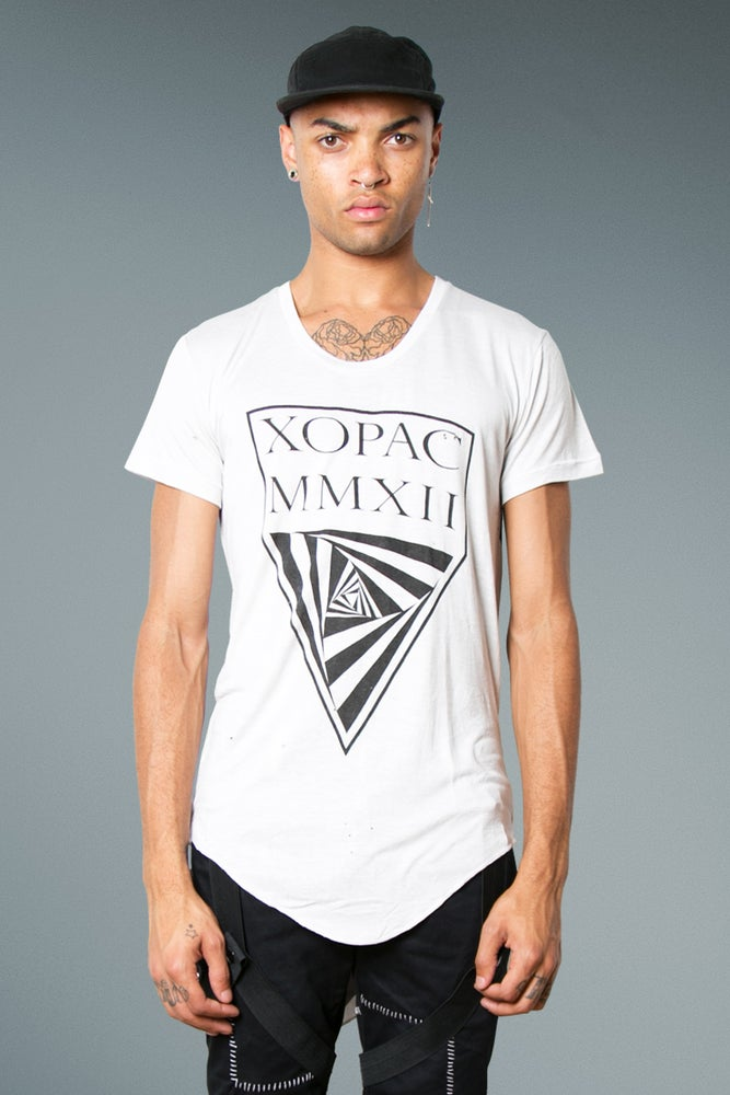 Image of Long Fit T-Shirt with 'Xopac' Print