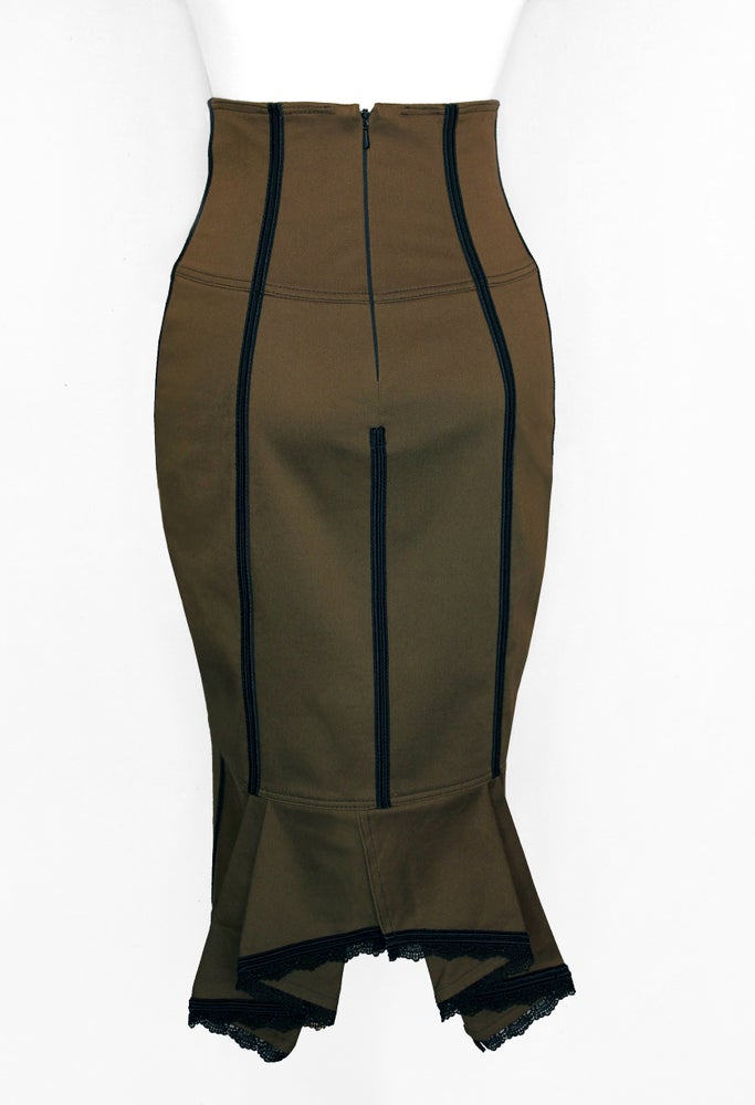 Image of Olive High Waist Pencil Skirt