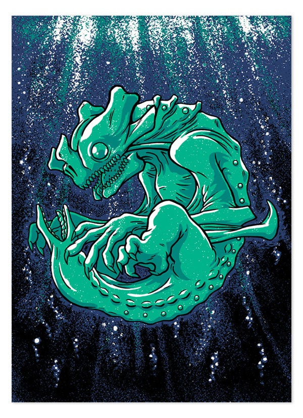 Image of Baby Kaiju Print