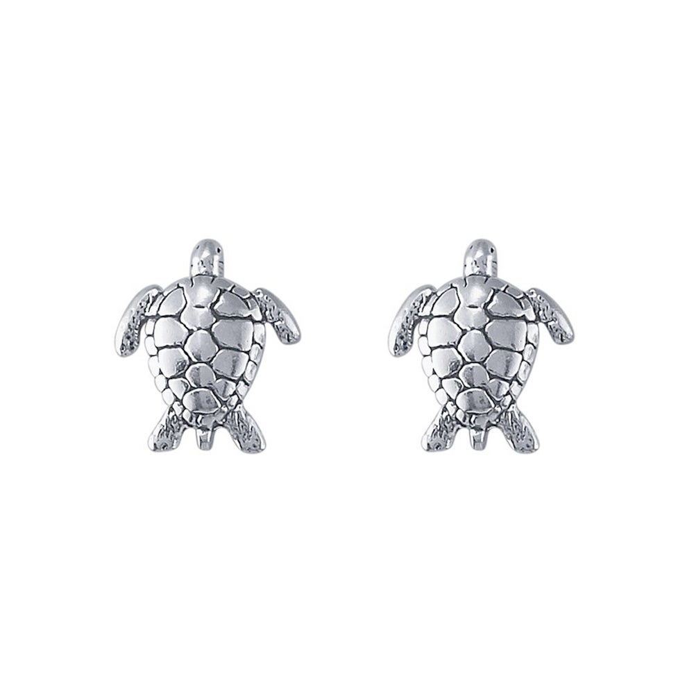 Image of Sea Turtle Stud Earrings in Sterling Silver