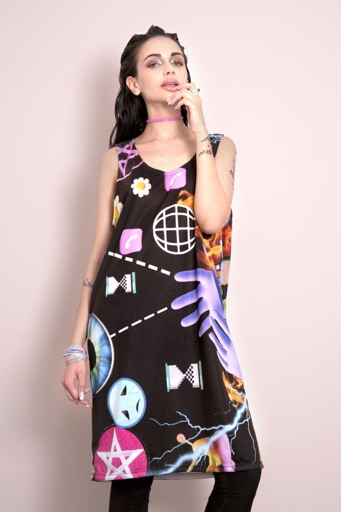 Image of WICCAN WI-FI BASKET TANK DRESS