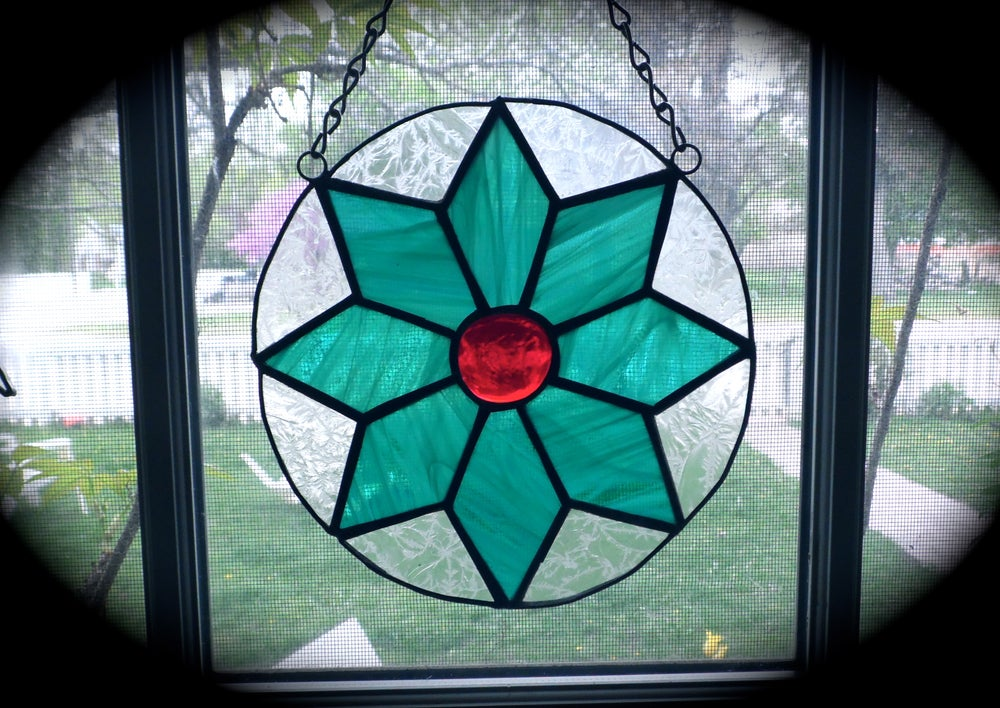 Image of Garden Flower-stained glass