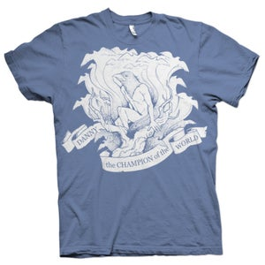 "Image of 007"" T-Shirt Blue"