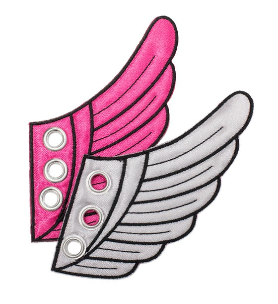 Image of Pink & Silver Wing Kicks
