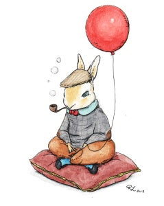"Image of ""Oldest Rabbit Birthday"" Giclee PRINT"