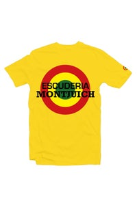 "Image of ESCUDERIA MONTJUICH TSHIRT ""TARGET YELLOW"""