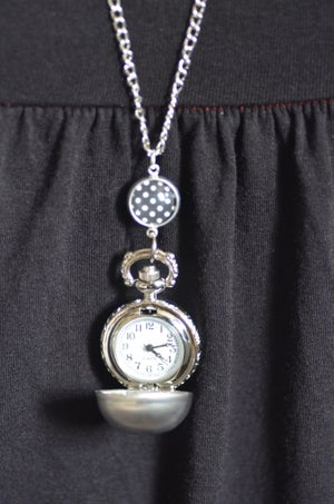 Image of Sautoir-Montre boule argenté Lovely Pois