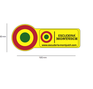 Image of ESCUDERIA MONTJUICH BASIC STICKER