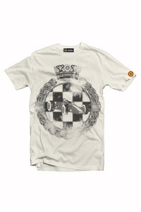 "Image of ESCUDERIA MONTJUICH TSHIRT ""WASTED EMBLEM IVORY"""