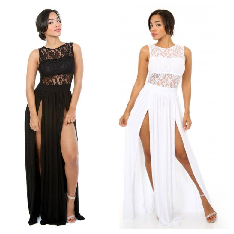 Image of Loving Myself Lace Maxi Dress