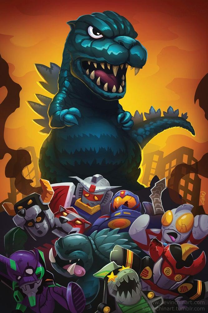 Image of Godzilla Print