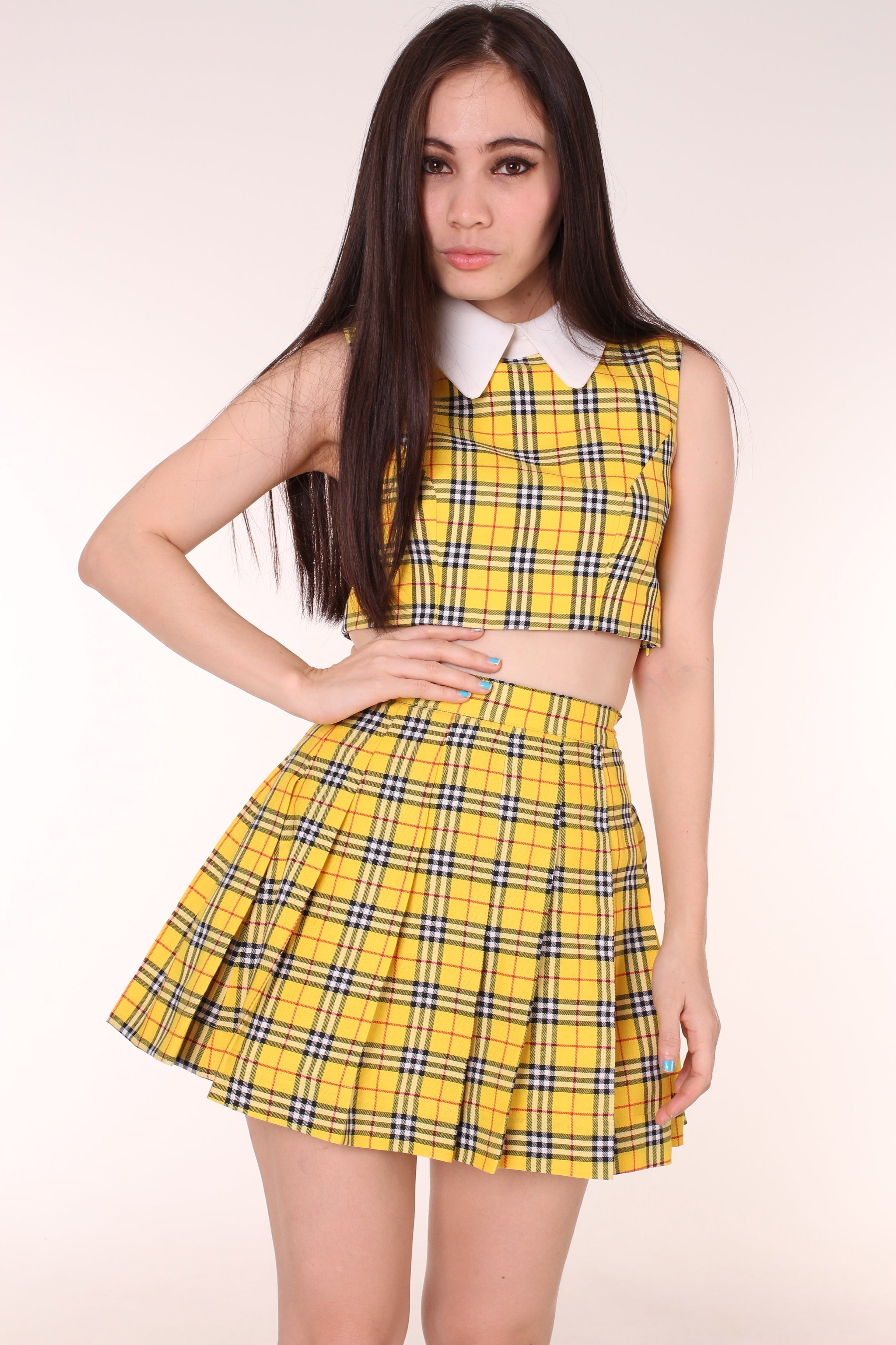 Image of As If Tartan Set with Sleeveless Top Version