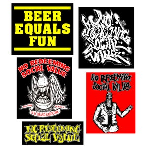 Image of NO REDEEMING SOCIAL VALUE Sticker Pack