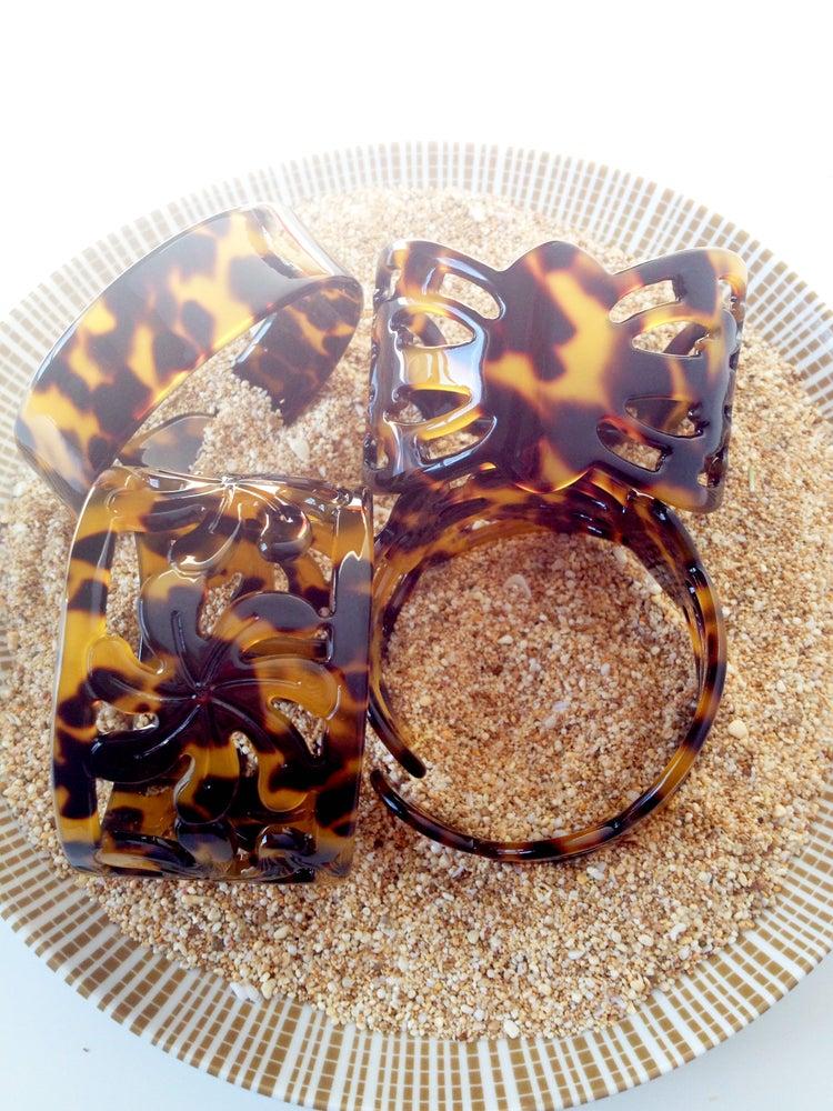 Image of CUFF : Hawaiian Tiare Tortoise Shell
