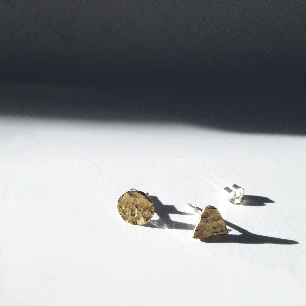 Image of MOUNTAIN & MOON STUD EARRINGS