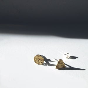 Image of MOUNTAIN & MOON STUD EARRINGS