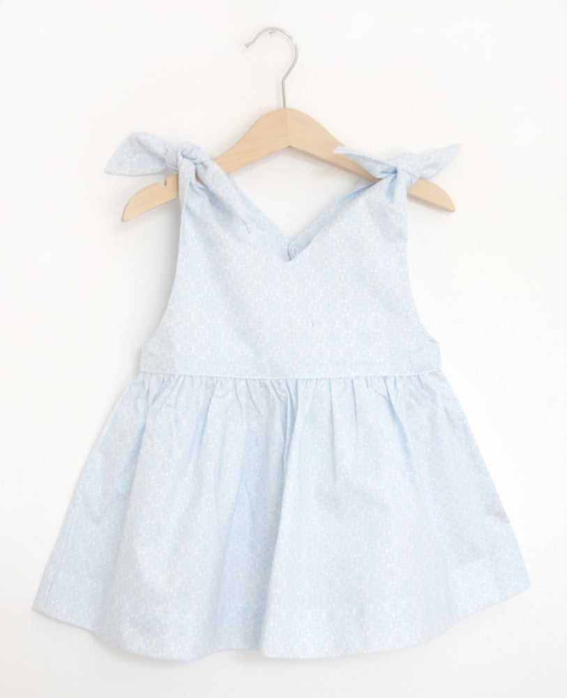 Image of Rabbit Top-blue pattern