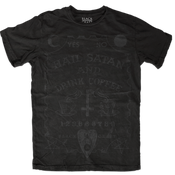 Image of Hail Satan And Drink Coffee - Black On Black
