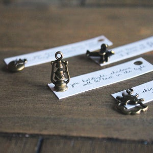 Image of Bracelet Lyric Charms (set of 4)