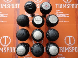 "Image of Trimsport Matte Black LIMITED EDITION VW Golf Jetta Mk3 ""Golfball"" Dimpled Gearknob"