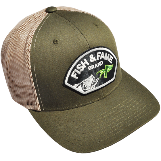 Image of Two-Tone Trucker w/Lure Patch (moss)