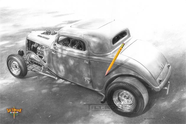 "Image of ""Flinger's Coupe"" Signed & Numbered 20x24 Giclee' Print"
