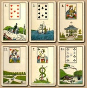 "Image of  Frommann & Bünte -- ""Alte Deutsch Lenormand"" c.1860"