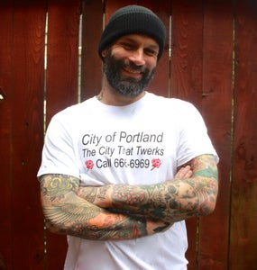 "Image of White ""City That Twerks"" Men's shirt"