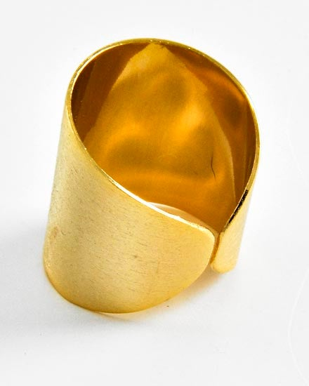 Image of Matte Gold Cuff Ring