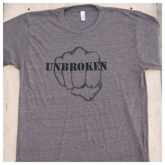 Image of Unbroken Men's Workout Shirt (Tri-Coffee)