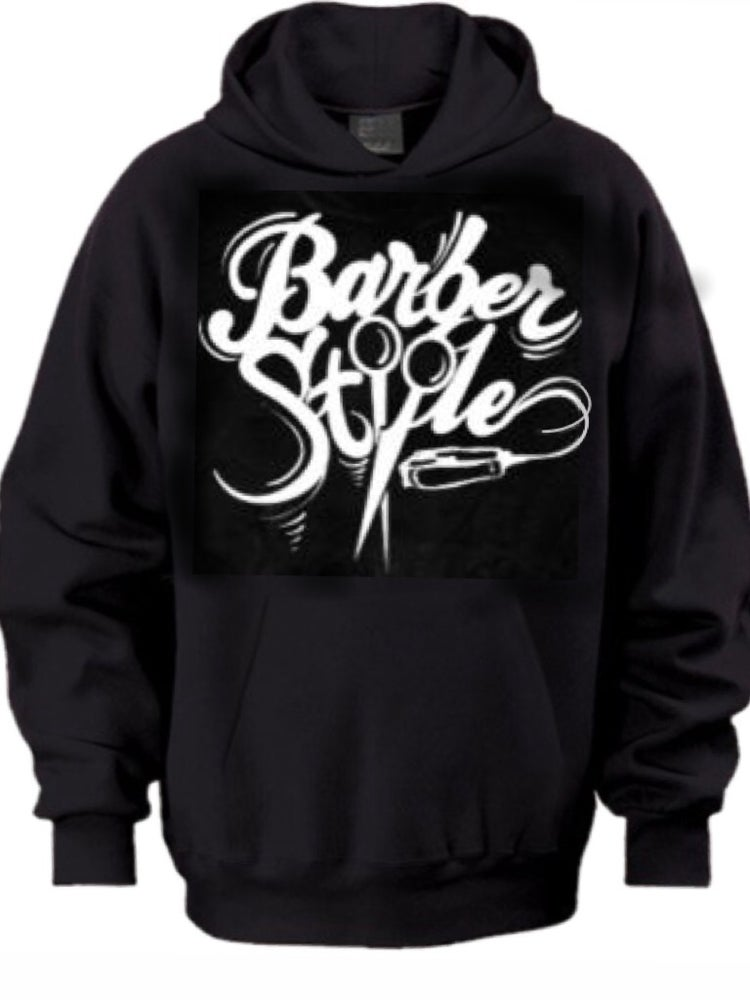 Image of Barberstyle Hoodie (Black Original Logo)
