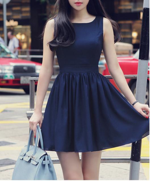 Image of Backless sleeveless chiffon dress vest bind women cultivate one's morality dress